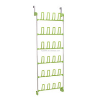 Household Essentials 12 Pair Over The Door lime Shoe Rack with hooks