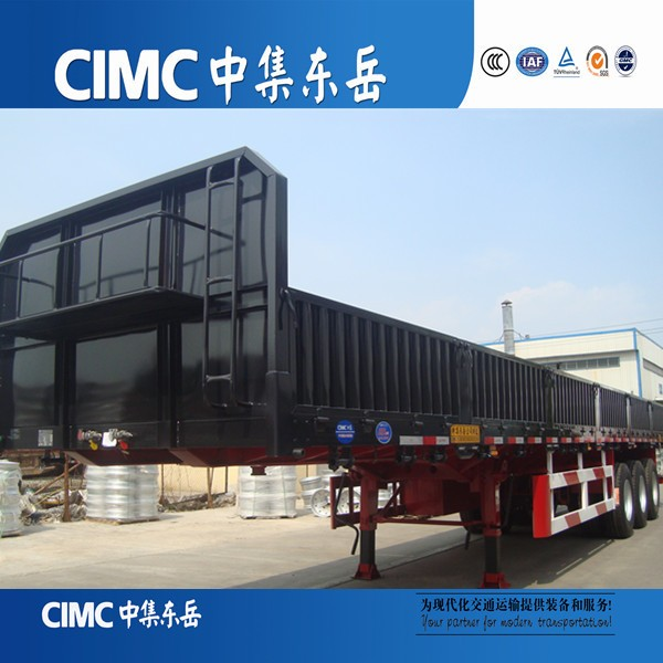 CIMC Dongyue Flat Bed Trailer 40 ft with side body
