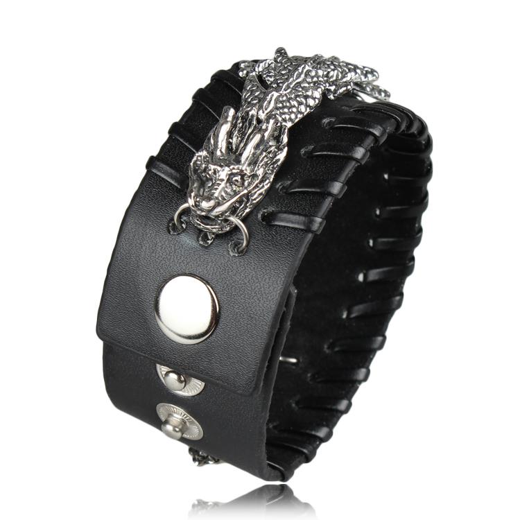 Aliexpress.com : Buy Cool Rock Dragon Bracelet Men Woman ...