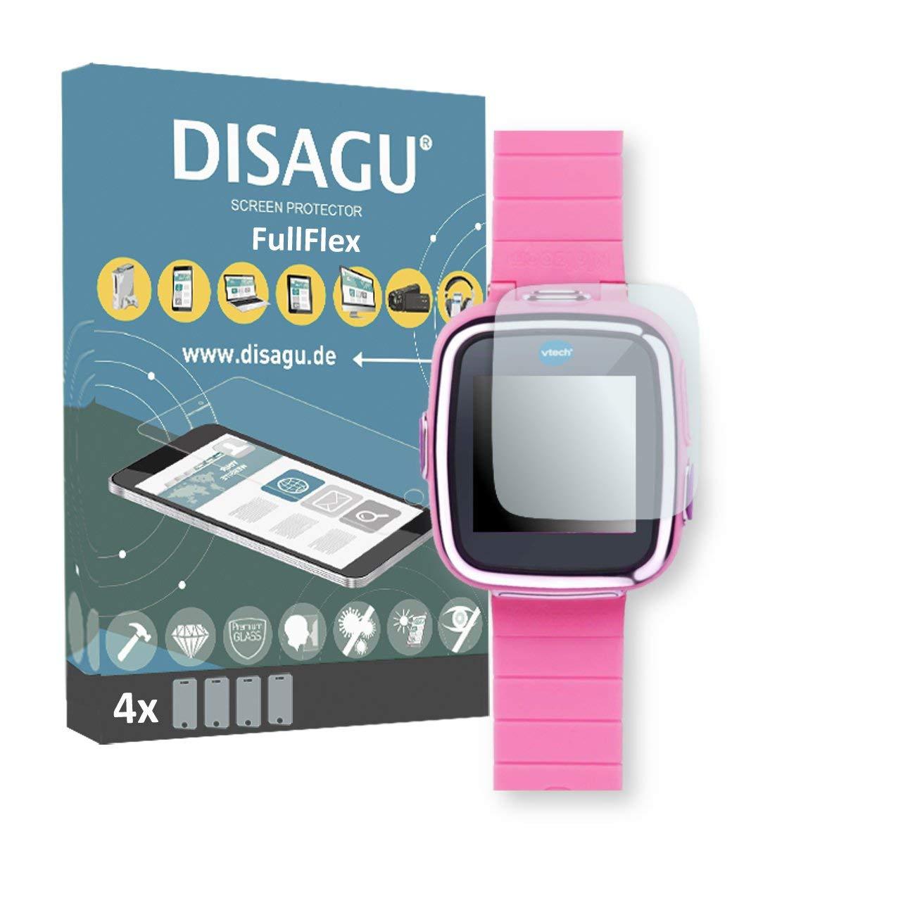 DISAGU 4 x FullFlex screen protector for Vtech Kidizoom Smart Watch 2 foil screen protector