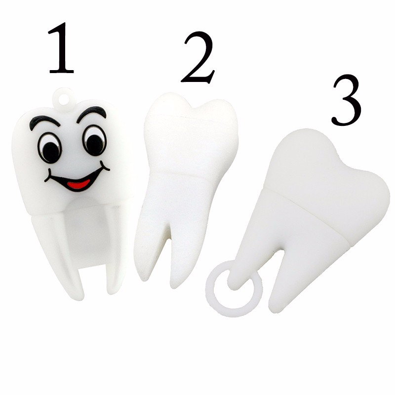 New Hot Pendrive Dentist Teeth Pendrive 16Gb 8Gb 4Gb 2Gb Cartoon Tooth Models Best Price Tooth Implantation Usb Flash Drive