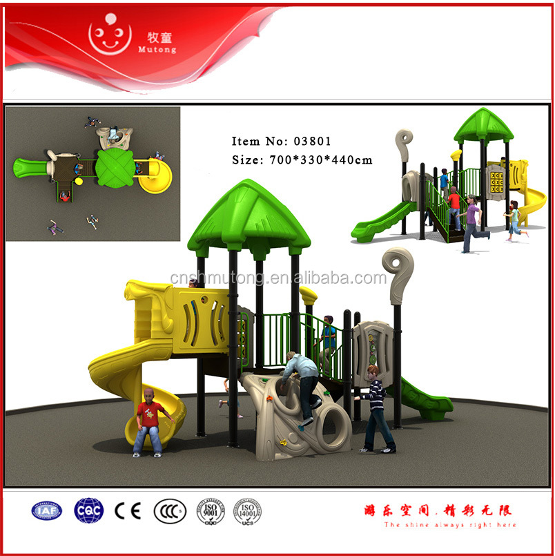 Plastic Children Outdoor Play Ground Equipment for Sale