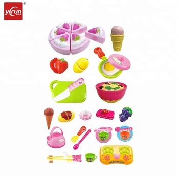 228e20 4 Kids Toys Educational Fruit Birthday Cake Cutting Cheap