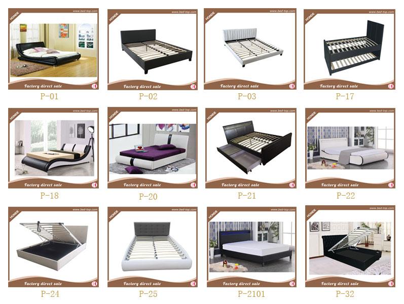 Muebles De Dormitorio 4 Cajones Cama De Cuero Cama Trineo Cama Doble ...