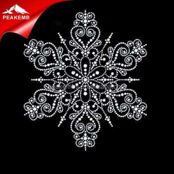 Wholesale Korean Hotfix Rhinestones Christmas Snowflake Design Rhinestones ff5c105a5088