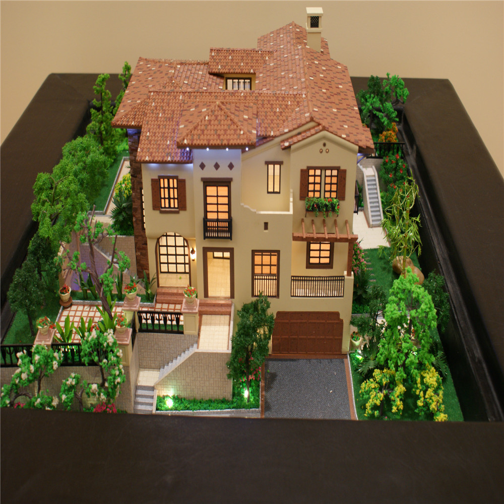 Model miniature house real estate property for sale villa for 3d house model maker