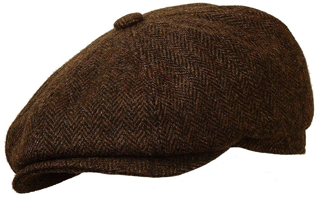 4b2a5b31e5a Get Quotations · ROOSTER HEADWEAR Rooster Wool Tweed Gatsby Newsboy Cap  Golf Driving Ivy Cabbie