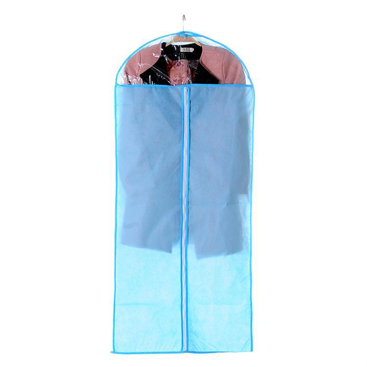 Non woven fabric with a zipper can be regarded as a suit cover / clothing dust bag - pure blue (large)