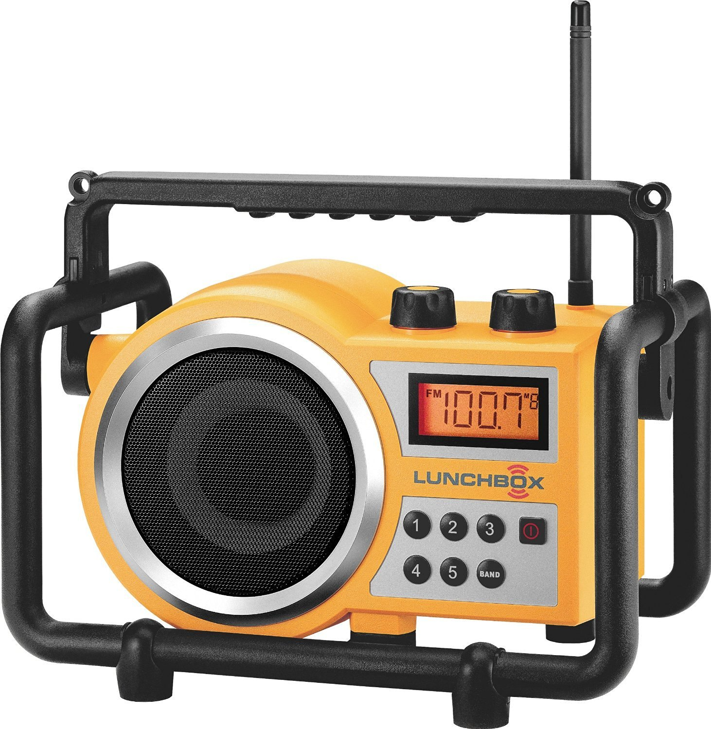 Sangean Portable Water Resistant Ultra Rugged AM/FM Radio Receiver with Large Easy to Read Backlit LCD Display