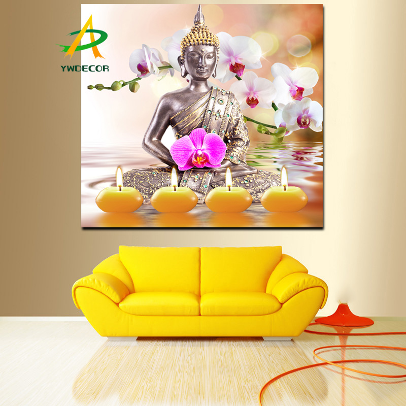 Buddha Zen Picture With Led Lights Canvas Painting On The Wall ...