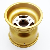 "10x4.5-5 golden Magnesium Wheel 5"" 130mm 58mm fit racing kart"