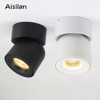 Aisilan all angle adjustable spot light 7W 9W COB Indoor Surface mounted LED ceiling lamp