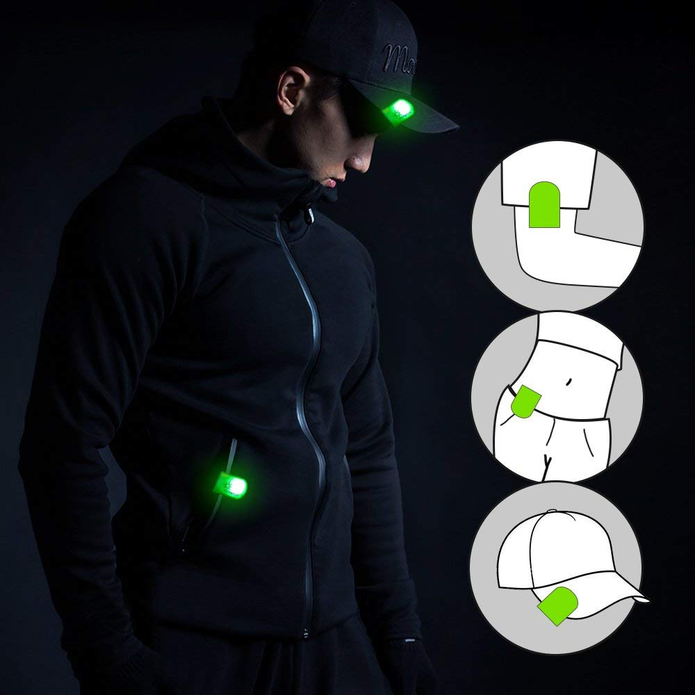 LED Safety Lights - Best Nighttime Visibility Magnetic Clip On Lights for Runners, Bike, Walking, Dogs| Light up Reflective Gear Accessories for Cloth, Backpack, Bicycle, Wrist, Ankle