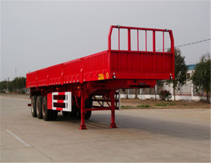 Tri-axle sidewall loading 50 tons 12 meter long truck semi-trailer