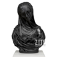 Popular Hand Carved Black Marble Veiled Lady Bust Statue