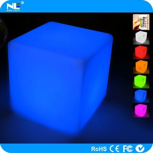Colorful outdoor 3D LED lighted acrylic cube