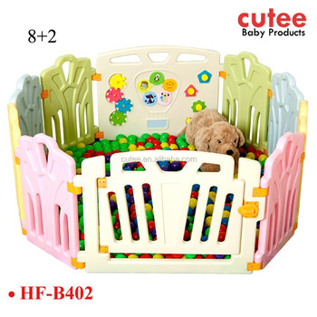 10 Panels Large Plastic Colorful Portable Foldable Safety Baby