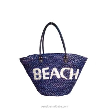Boyama Mısır Kabuğu Nakışlı Harfler Plaj Hasır çanta Buy Plaj