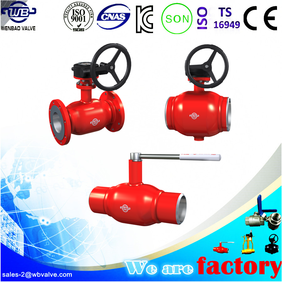 Gas field Fully Welded Ball Valve China professional manufacturer