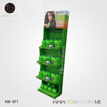 Display Shelf Stand Retail 5 Tier Tray Paper Floor Stand For Cosmetic
