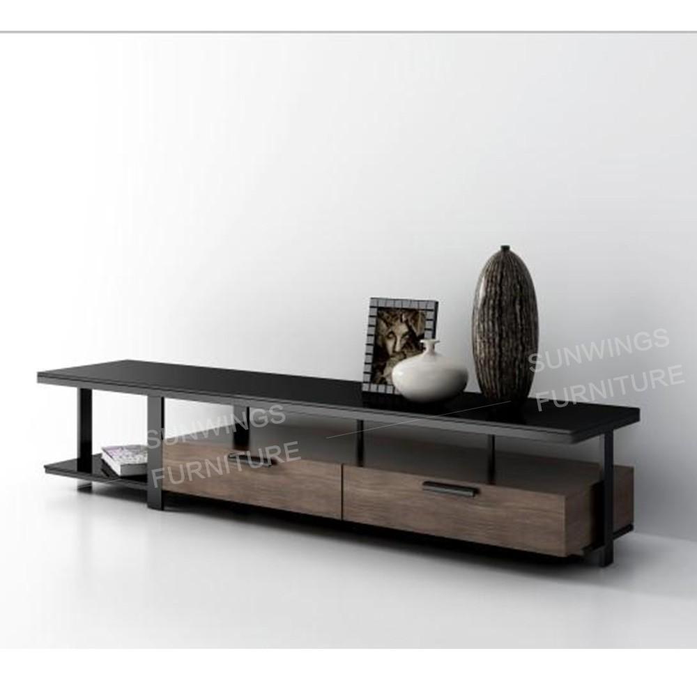Dise o moderno mueble de televisi n led tapa de cristal for Diseno de muebles para tv modernos