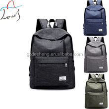 High school student vintage canvas lightweight backpack with usb charger china