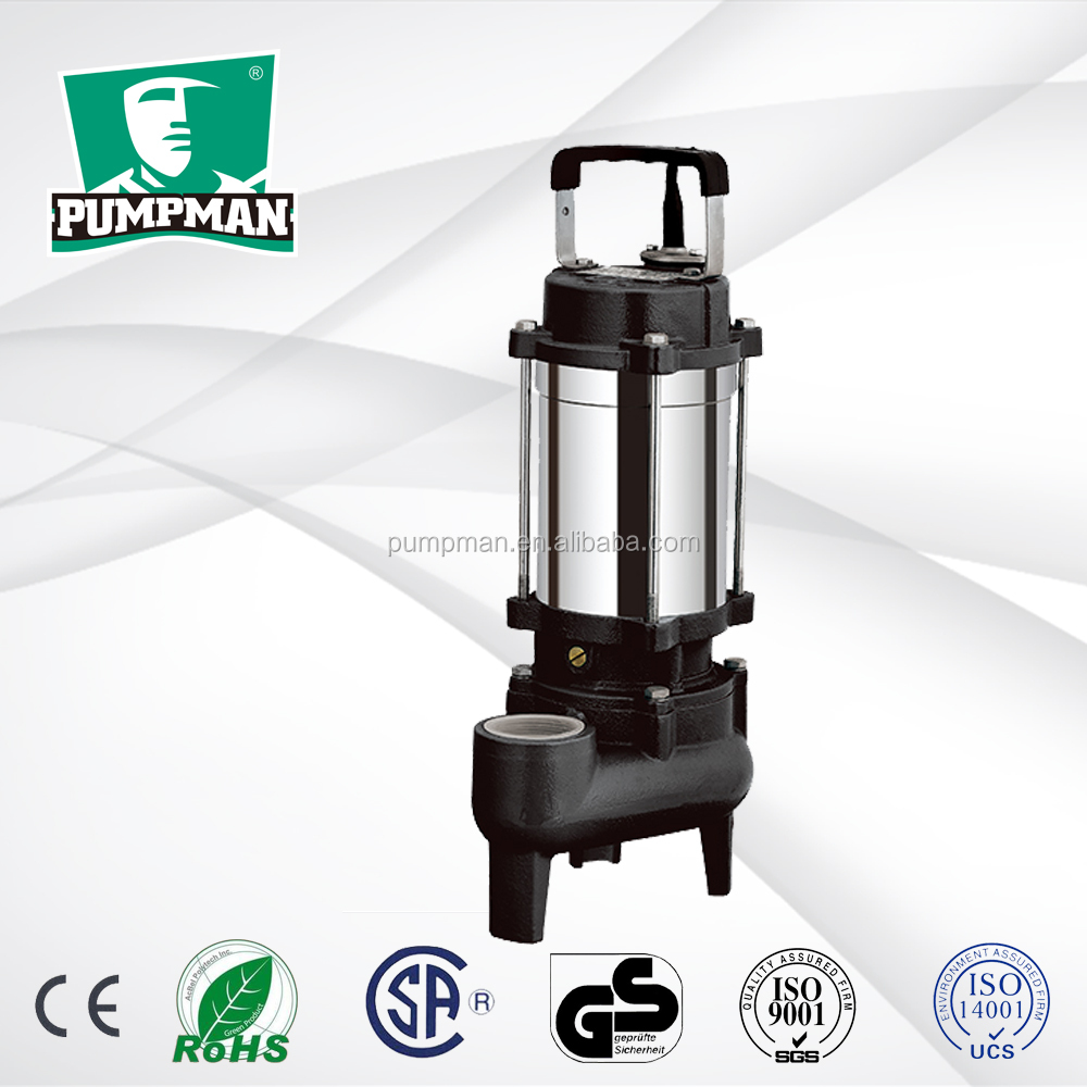WQD-S 2016 PUMPMAN new good quality 1hp domestic electric submersible swage water pump