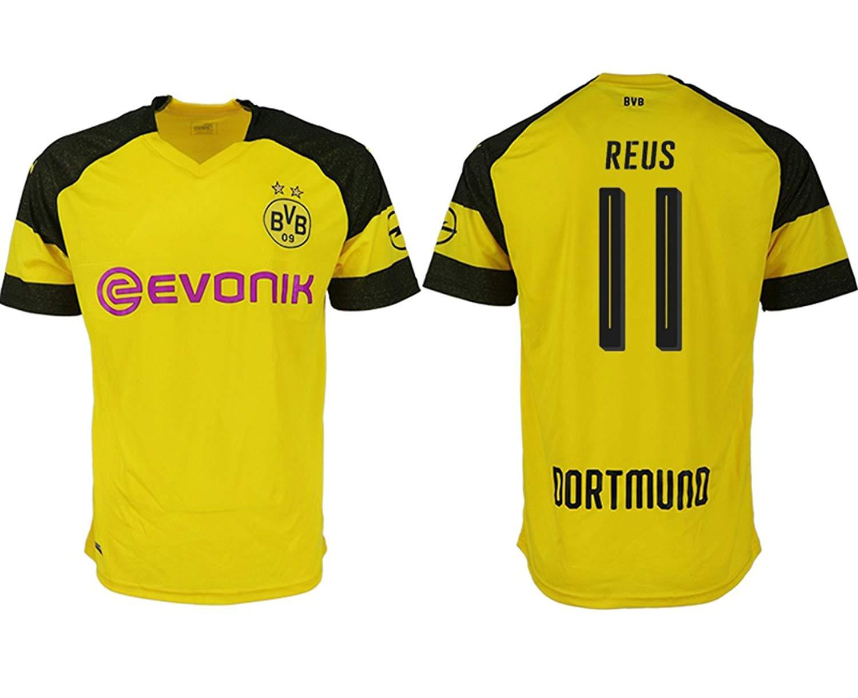 7ebf74e9307b Get Quotations · Bigfoot sports 2018 2019 Borussia Dortmund Reus 11 Home  Soccer Jersey