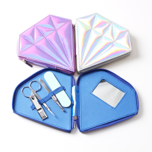 Fashion diamond shape nail care manicure pedicure set
