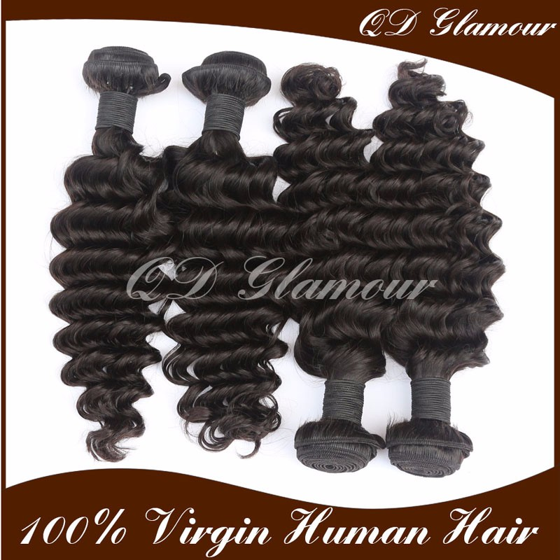 Overnight shipping 6A 7A 8A Grade Deep Wave 100% Virgin Brazilian Human Hair