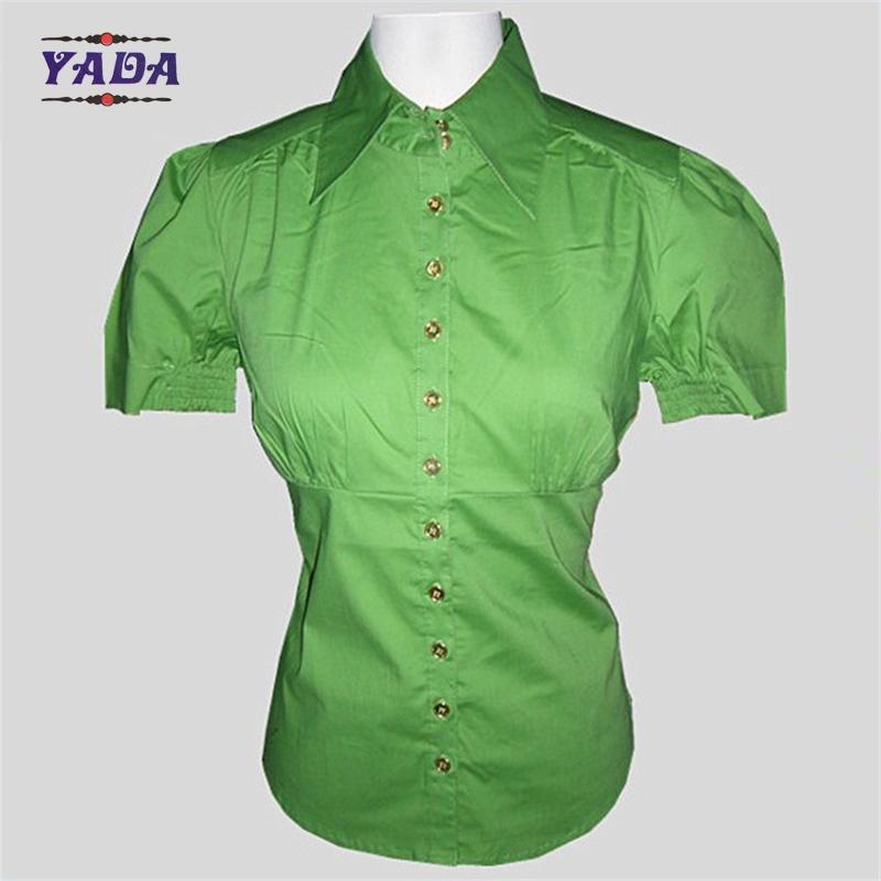 Popelina tramo Oficina Lady blusas señoras camisas casuales fotos para las  mujeres Verano 2017 d2863a75314