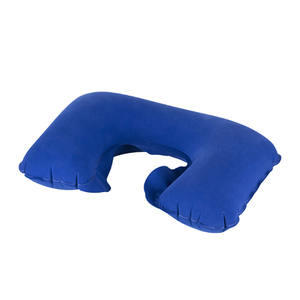 Wholesale popular Cotton cover breathable inflatable U Shape Neck Pillow with bag and ear plug factory custom