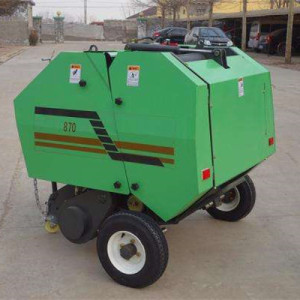 Hot sale Mini compact hay baler / corn silage round bander baler tying machine for farm walking tractor