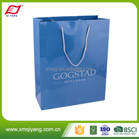 Factory price glossy lamination shopping package bag paper for promotional