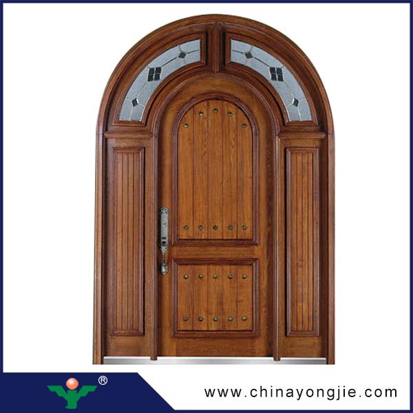 best selling natural solid wooden door teak wood main door carving ...
