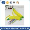 Novelty Silicone Portable Banana Pencil Pen Case Bag Rubber Pouch School Stationery