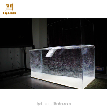 Custom Crystal Clear Aquarium Acrylic Fish Tank For Home Furniture