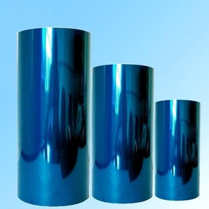 China clear blue pet film