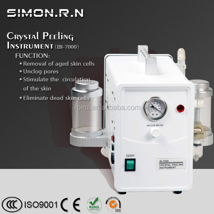 Facial cleansing machine vacuum facial cleanser crystal diamond powder microdermabrasion IB7000