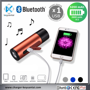 Waterproof 5200mAh Power Bank with SOS LED light Mini Bluetooth Speaker Portable Wireless Mini Speaker