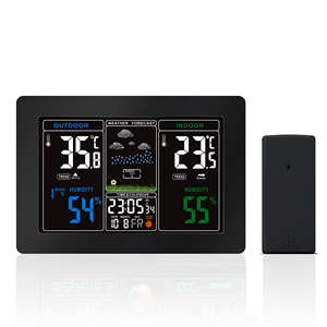 Colorful display 433mhz automatic weather forecast electronic clock station