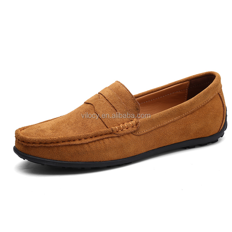 GFP Mens Leather Shoes Business Breathable Comfort Casual Hollow-Out Flat Loafers Summer Sandals Driving Shoes Walking Shoes