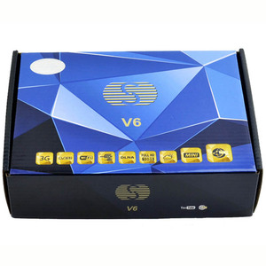 Factory price hottest satellite receiver S-v6 in set top box vs V8S open box
