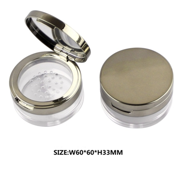 Empty cosmetic 10g 30g square loose powder jar with sifter