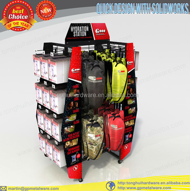 Portable four side sports store display