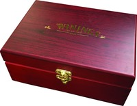 6 Slot Wooden Tea Chest tea box