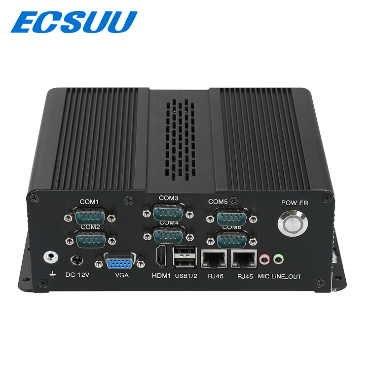ECSUU UU-8160C intel LGA1150 i3 i5 i7 rugged industrial fanless mini pc gpio computer