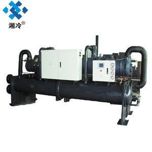 Water cooled low temperture screw chiller, -10C,362.4kw/311670Kcal/h,glycol water chiller,for food industry,fcu free cooling uni