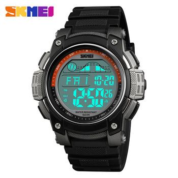 b69c85323bc4 Azul Del Reloj Skmei 1372 La De Los Hombres De La Marca De Relojes Led  Deporte Reloj Hombres Reloj De Pulsera Negro Alarma ...
