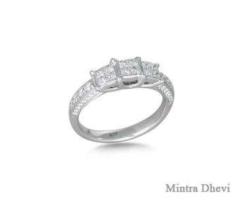 nuevos productos para como serch buscar genuino Joyería Fina 18 K Oro Blanco Corte Princesa Anillo De Compromiso - Buy  Diamante De Corte Princesa Anillo Product on Alibaba.com